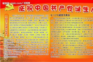 中国共产党诞生纪念日板报