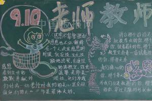 庆教师节黑板报高清大图