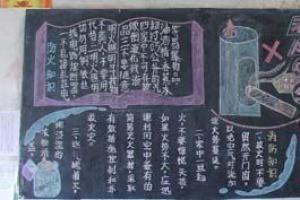 小学生消防安全宣传黑板报