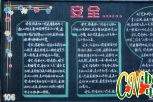 119消防专题黑板报