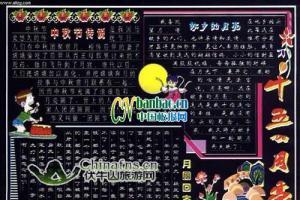 部队庆祝中秋节黑板报:十五的月亮