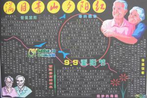 2010年九九重阳节黑板报
