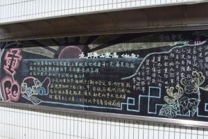 学校宣传部重阳节专题黑板报设计