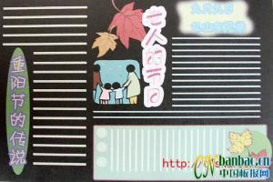 重阳节(老人的节日)黑板报版式设计