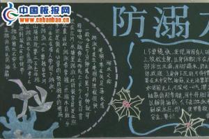 防溺水教育黑板报版面设计图-精品