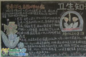 卫生知识黑板报版面设计图