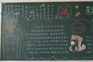 创建美好校园黑板报