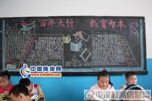 百年大计 教育为本黑板报图片