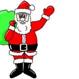 红配绿的圣诞老人