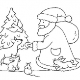 有爱心的圣诞老人