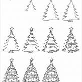 简笔画圣诞树画法