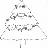 圣诞树简笔画:树立日期