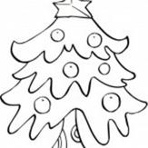 卡通圣诞树简笔画:学做圣诞树