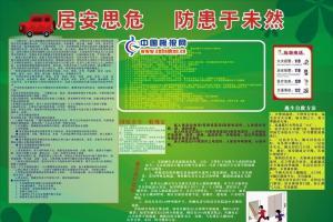 防火防电板报图片:居安思危 防患于未然