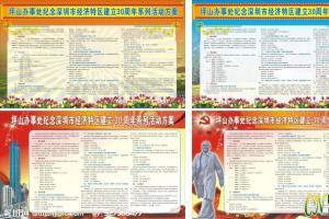 纪念深圳市经济特区建立30周年活动板报