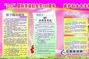维护妇女合法权益宣传板报