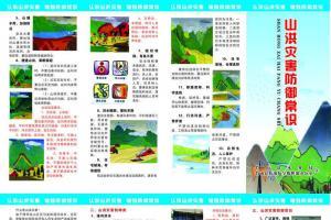 山洪灾害预防常识宣传板报图片