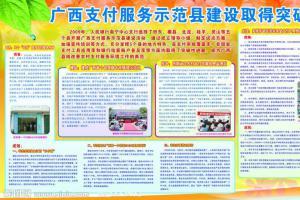 人民银行某支付服务示范县建设取得突破性进展宣传板报