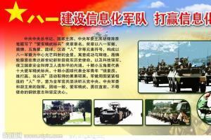 建设信息化军队 打赢信息化战争宣传板报