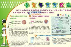 春夏季疾病预防板报图片