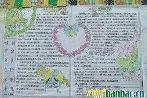 卫生日手抄报设计:保护生态环境 创建美好家园