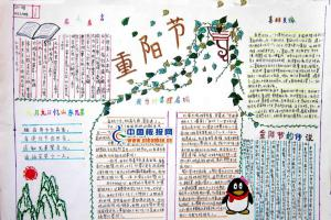 龙年重阳节手抄报