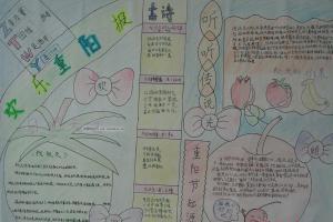 重阳节手抄报版面设计图