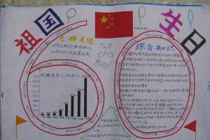 祖国生日手抄报版面设计图