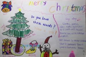 二年级圣诞英语手抄报