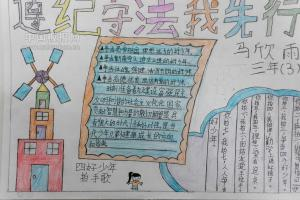 弘扬宪法精神手抄报图片