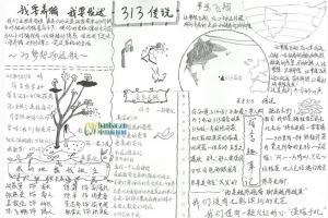 高中生活手抄报图片-黑白版