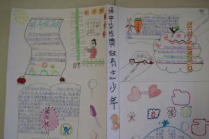 诵中华经典做有志少年手抄报图片