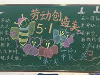 五一劳动节劳动创造美黑板报