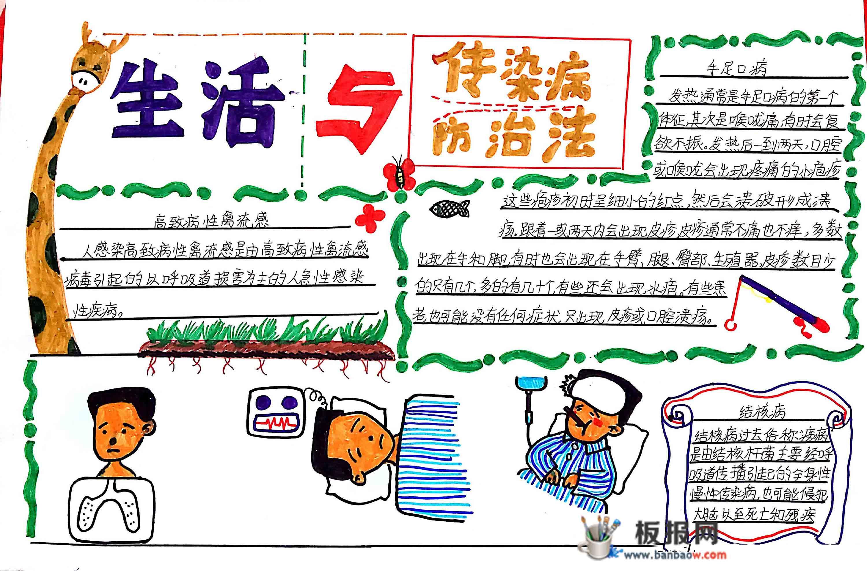 小学生春季预防传染病手抄报图片大全