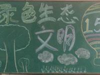绿色生态文明 植树节黑板报