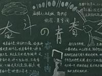 青春主题奋斗的青春黑板报图片