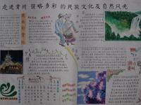 走进贵州领略多彩的民族文化及自然风光手抄报
