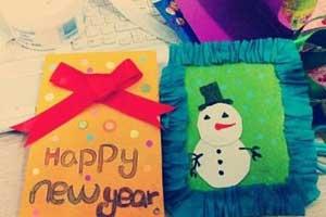 小学生新年贺卡图片大全 2017新年手工贺卡图片大全