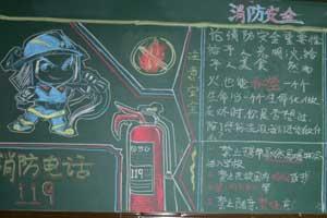 消防安全珍惜生命黑板报图片大全
