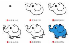 大象简笔画步骤图片大全_大象怎么画