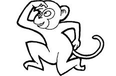 猴子简笔画图片 淘气的猴子怎么画