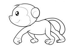 卡通猴子简笔画步骤图片大全