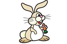 吃胡萝卜的乖乖兔简笔画步骤图片大全