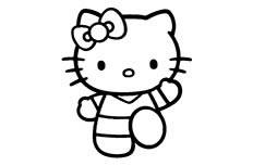卡通凯蒂猫简笔画图片 Hello Kitty简笔画