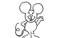 老鼠怎么画 可爱小老鼠简笔画图片