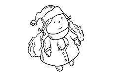 冬天的小姑娘简笔画图片 冬天的小姑娘怎么画