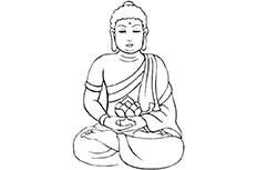 如来佛祖人物简笔画图片 如来佛祖怎么画