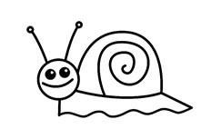蜗牛简笔画图片 蜗牛怎么画