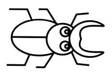天牛昆虫简笔画图片怎么画
