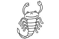 蝎子简笔画图片 蝎子昆虫怎么画
